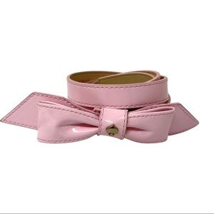 Kate Spade pink bow patent leather belt XS